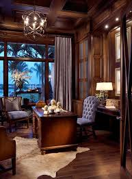 elegant traditional home office with panelled walls this chandelier was custom made for this home office the best traditional home design ideas beautiful business office decorating ideas
