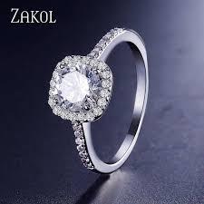 ZAKOL Hot Sale <b>Zircon</b> Jewelry Set <b>Fashion Square</b> Earrings ...