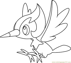 Small Picture Pikipek Pokemon Sun and Moon Coloring Page Free Pokmon Sun and