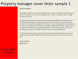 property manager cover letter   property manager cover letter