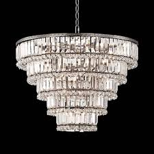 "Magnificence Satin Nickel 24 1/2"" Wide <b>Crystal Chandelier</b> ..."