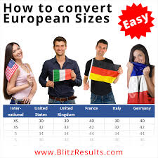 <b>European Sizes</b>: Conversion Charts for Clothes & Shoes - US, UK ...