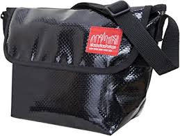 Manhattan Portage Vinyl NY Messenger Bag, Black ... - Amazon.com
