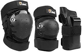 JBM Kids & Adults Knee Pads <b>Elbow</b> Pads Wrist Guards <b>3 In 1</b> ...