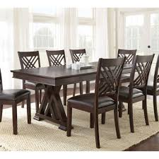 home lasalle espresso pedestal extending table dining  images about dining tables on pinterest preserve shops and kitchen di