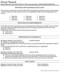 free  top professional resume templatesbusiness development resume thumb business development resume