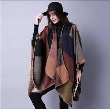 <b>2016 New Brand Women'S</b> Winter Poncho Vintage Blanket Womens ...