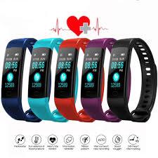 <b>Bluetooth Smart Bracelet Color</b> Screen Y5 Smartband Heart Rate ...