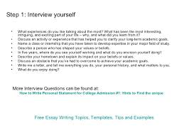 Writing a creative essay about yourself