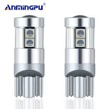 ANMINGPU <b>2pcs T10 LED</b> Bulbs White 168 501 <b>W5W LED</b> Lamp ...