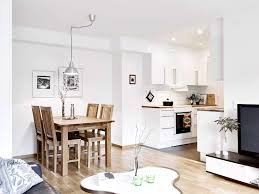 apartmentsamusing scandinavian studio apartment combining the kitchen and dining table set an attractive wooden chair classic attractive high dining