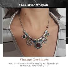 Shineland 2019 <b>New</b> Choker Necklace <b>Fashion</b> Ethnic Collares ...
