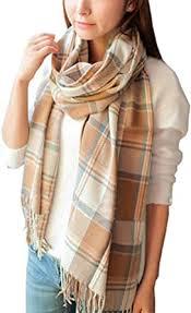 Wander Agio Women's <b>Fashion Long</b> Shawl <b>Big</b> Grid Winter Warm