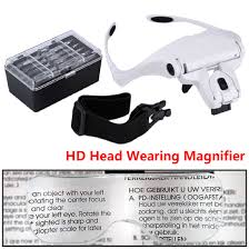 adjustable 5 lens loupe led light headband magnifier glass magnifying glasses with lamp