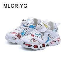 <b>2019 Spring New</b> Kids Pu <b>Leather</b> Shoes Baby Girls Sport Sneakers ...