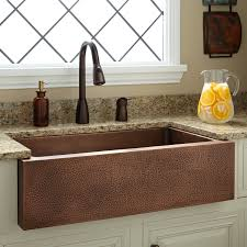 hammered copper kitchen sink: uquot perenna reversible copper farmhouse sink kitchen
