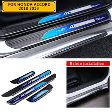 pcmos <b>Stainless Steel Outer Door</b> Sill Scuff Plate Guard For Honda ...