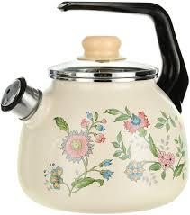 """<b>Чайник эмалированный</b> СтальЭмаль """"Луговые цветы"""", со ..."""