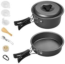 Lightweight Family Pots Cups Pans <b>AceCamp</b> Hard-Anodized ...