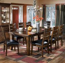 dining room table ashley furniture home: amazoncom signature design by ashley d  larchmont collection dining room table burnished dark brown tables