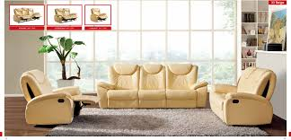 contemporary living room ideas with beige leather sofa cushion and grey rug also bay window and beige furniture