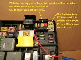 easy switched power source jeepforum com for use as outlined only the top fuse position can be used as the bottom fuse would send power to an empty wire socket in tipm connector c6