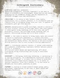 delicious reads printable divergent faction manifesto this is an example of what the pdf looks like