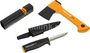 Купить Топор <b>Fiskars Х5</b> средний черный/оранжевый (в компл ...