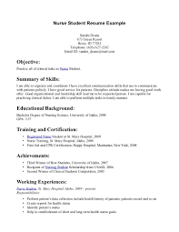 student nurse resume template make resume cover letter nursing student resume samples