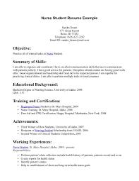 student nurse resume template make resume cover letter nursing student resume samples