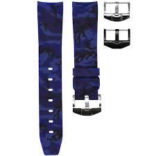 Horus - <b>Dark Blue</b> (<b>Camo</b>) Rolex Rubber Watch Strap – Cagau