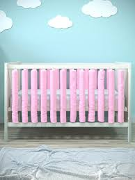 <b>Бортик в кроватку Cloud</b> Factory Plain Rose, 12 фенс-бамперов ...