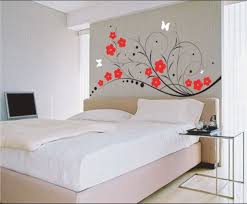 endearing bedroom wall decoration ideas with patterns delightful paint room walls interior design red flowers and bed room furniture design bedroom plans