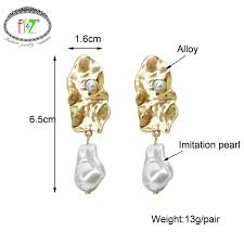 F.J4Z <b>Baroque</b> Vintage <b>Earrings</b> Fashion Antique Alloy Leaf ...