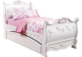 princess room furniture. disney princess white 4 pc twin sleigh bed w trundle beds colors room furniture