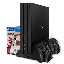 PS4/PS4 Slim/PS4 Pro Dual Controller Charger Console Vertical ...