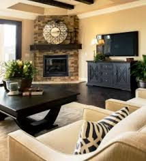 an elegant and functional living room design its tv console is a practical element in beige furniture