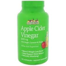 Country Farms, Apple Cider Vinegar, 500 mg, 90 Capsules - iHerb ...