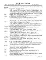 school teacher resume examples high  seangarrette coschool teacher resume examples