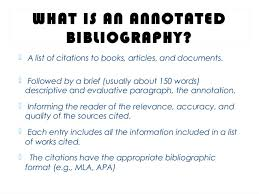 Annotated Bibliography HS SlideShare