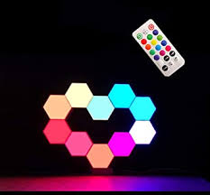 W.KING Splicing LED <b>Smart Light</b>, Wall <b>Lamp Hexagonal</b>, <b>RGB</b> ...
