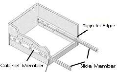 side mount drawer slide installationdrawer slide diagram