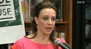 Paula Broadwell is shown. | AP Photo/C-SPAN Book TV. She says she's trying to move on and return to her religious roots. - 130501_paula_broadwell_ap_605