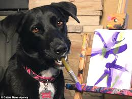 Image result for dogs doing art