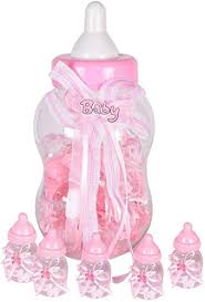 Atpata Funky Milk Bottle Shape Mini Bottles <b>30pcs Set</b> - Pink, for ...
