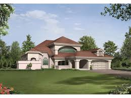 Wynehaven Luxury Florida Home Plan D    House Plans and MoreSouthwestern House Plan Front Image   D    House Plans and More