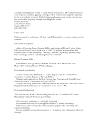 cover letter template for  dental hygiene resume cover letter    resume