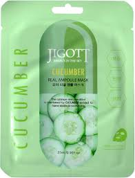 Jigott <b>Ампульная тканевая маска</b> с огурцом Cucumber Ampoule ...