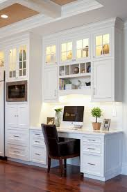 kitchen cabinets home office transitional: kitchen desk cabinet kitchen traditional with clerestory cabinets coffered ceiling
