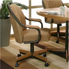 casual dining chairs with casters: cramco inc shaw swivel dining arm chair